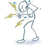 Stokcijfer met woede en grote ergernis vector illustratie