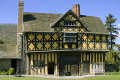Stokesay castle. A fortified manor house, shropshire england uk Royalty Free Stock Photo