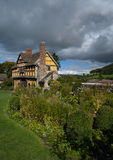 Stokesay Castle gatehouse. And gardens Stock Images
