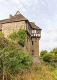 The North Tower, Stokesay Castle, Shropshire, England. Stokesay Castle`s North Tower as seen from the moat. This late 12th or early 13th century pele, or Royalty Free Stock Photo