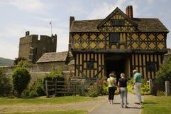 Stokesay ein englisches Schloss lizenzfreie stockbilder
