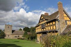 Stokesay kasztel, Średniowieczny rezydencja ziemska dom Zdjęcia Stock