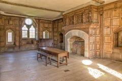 Stokesay-Schloss Solar, Shropshire, England Lizenzfreie Stockbilder