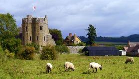 Stokesay slott Ludlow från söderna arkivbild