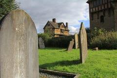 Stokesay slott, medeltida mangårdsbyggnad, Shropshire, England Royaltyfri Bild