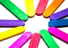 Stokken van het cirkel de kleurrijke roomijs Stock Foto