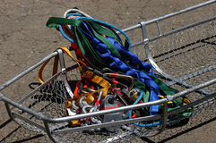 Stokkes basket with rescue equipment. Stokes basket with rescue equipment Stock Images