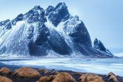 Stokksnes, Zuidelijk IJsland Stock Foto's