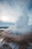 Stokkur geyser eruption, Iceland. Geysir Royalty Free Stock Images