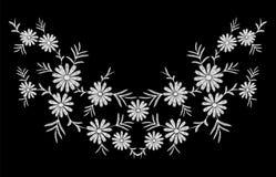 Stokrotka druku tekstury kwiatu przygotowania hafciarscy liście ilustracja wektor