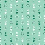 Stokrotka garnka lata kwiatu kwiatu bezszwowy wzór Stylizowany retro kwiecisty po ca?ym druk ilustracji