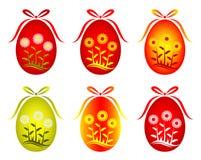 stokrotki wystroju Easter jajka sześć wersje ilustracji