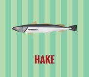 Stokvissen die - op groene achtergrond trekken Royalty-vrije Stock Afbeelding