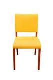 stol isolerad läderyellow royaltyfria bilder