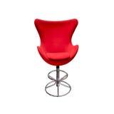 stol isolerad röd soft Royaltyfria Foton
