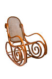 stol isolerad vaggande white Arkivbild