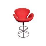 stol isolerat rött slappt stilfullt Arkivfoto