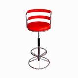 stol isolerat rött stilfullt Royaltyfria Foton
