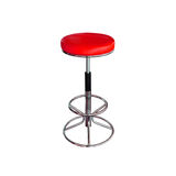 stol isolerat rött stilfullt Royaltyfri Bild