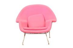 stol isolerat rosa stilfullt arkivfoto