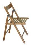 stol isolerat vitt trä Arkivbild