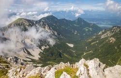 Stol mountain, view on Austria, Slovenia Royalty Free Stock Images