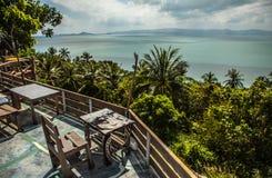 Stol och tabell på Thailand Royaltyfria Foton
