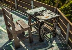 Stol och tabell på Thailand Royaltyfri Fotografi