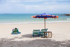 Stol på stranden Royaltyfri Fotografi