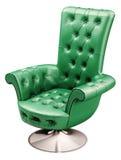 stol som 3d fäster den gröna kontorsbanan ihop Fotografering för Bildbyråer