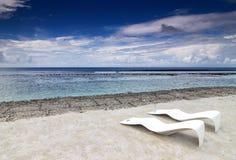 stolar för 1 strand Arkivfoton