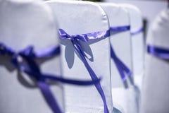Stolar för bröllopceremoni Arkivbilder