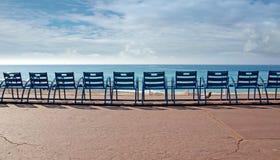 Stolar framme av havet Royaltyfri Fotografi