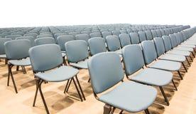 Stolar i konferenskorridor Arkivfoto