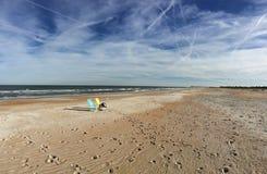 stolar i stranden Florida Arkivbild