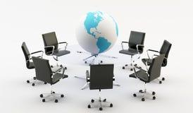 Stolar och kontorstabell Arkivfoton
