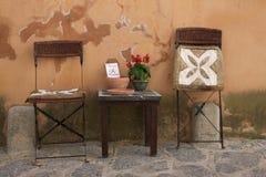 Stolar och tabell Royaltyfri Foto