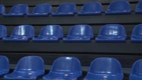 Stolar p? stadion stock video
