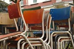 stolar staplade arkivbild