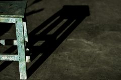 Stolen är under solljusen royaltyfri fotografi