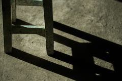 Stolen är under solljusen arkivbild