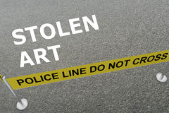 Stolen Art concept Royalty Free Stock Photography