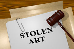 Stolen Art - legal concept Royalty Free Stock Photo