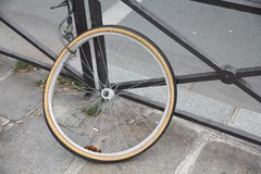 Stolen bicycle Stock Image