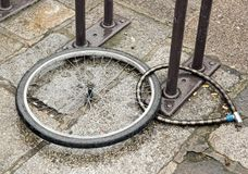 Stolen bike Stock Image