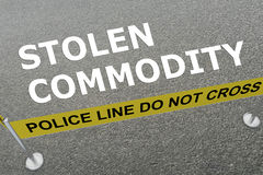 Stolen Commodity concept Royalty Free Stock Images