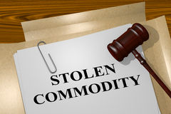 Stolen Commodity - legal concept Royalty Free Stock Image