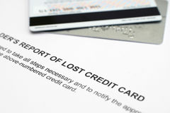 Stolen credit card Royalty Free Stock Photography