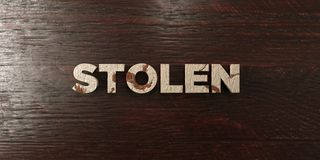 Stolen - grungy wooden headline on Maple  - 3D rendered royalty free stock image Stock Photography