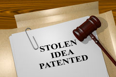 Stolen Idea Patented - legal concept Royalty Free Stock Photo